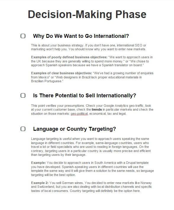 International SEO 56 Point Checklist - Google Docs Version